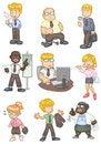 Free Cartoon Worker  Icon Stock Image - 18030101