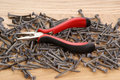 Free Pile Of Old Screws And Pliers Stock Image - 18033751