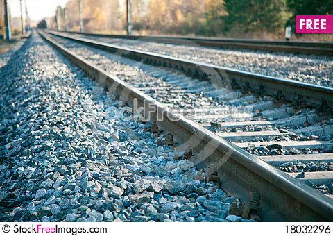 Free Railroad Tracks Royalty Free Stock Image - 18032296
