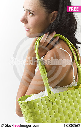Free Young Woman With Shopping Bag Stock Photography - 18038562