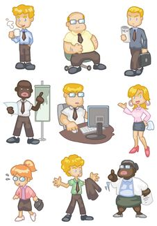 Free Cartoon Worker  Icon Stock Image - 18030101