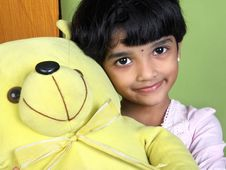 Free Indian Cute Little Girl Royalty Free Stock Photography - 18030117