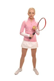 Free Tennis Girl. Stock Photography - 18030192