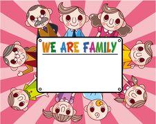 Free Cartoon Family Card Royalty Free Stock Photo - 18030825