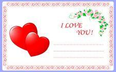 Free Valentine S Greeting Card. Stock Images - 18031094