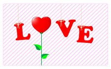 Free Valentine S Card. Royalty Free Stock Photos - 18031098