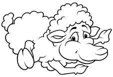 Free Laying Sheep Stock Photo - 18031850