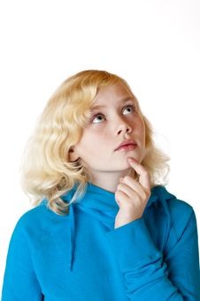 Free Young Girl Looks Contemplative In The Air Stock Photo - 18031960