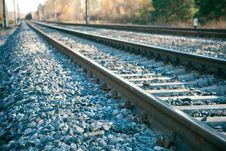 Free Railroad Tracks Royalty Free Stock Image - 18032296