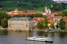 The Red Roofs On Vltava S Riverside In Prague Stock Images