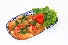 Free Spicy Stir Fried Fish Fillet With Herb Royalty Free Stock Image - 18033286