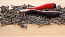 Free Pile Of Old Screws And Pliers Stock Image - 18033761
