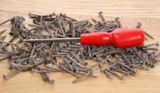 Free Pile Of Old Screws And Pliers Royalty Free Stock Photo - 18033775