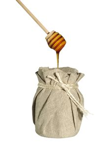 Free Jar Of Honey In Canvas Royalty Free Stock Images - 18034379