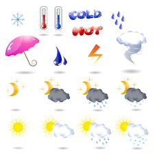 Free Weather Icons Stock Photo - 18034540