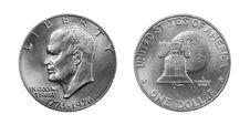 Free Silver Dollar Reverse Abverse Royalty Free Stock Photo - 18034615