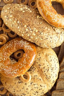 Different Sorts Of Bread Royalty Free Stock Photo