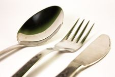 Free Spoon Fork And Knife Royalty Free Stock Photos - 18035358