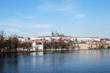 Free Prague, Vltava River And Castle Stock Photos - 18035563