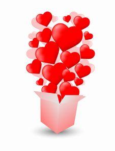 Free Heart Box Stock Photography - 18035672