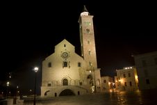 Free Trani By Night- Cathedral Royalty Free Stock Photo - 18035675