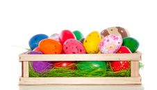 Free Varied Sorts Of Easter Eggs Stock Images - 18036104
