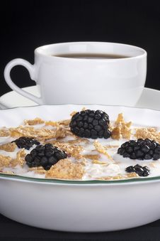 Free Cereals With Blackberry Stock Photos - 18036543