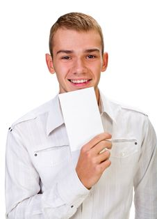 Portrait Of A Happy Young Man Stock Image