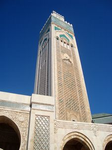 Mosque Of Hassan II Royalty Free Stock Photo