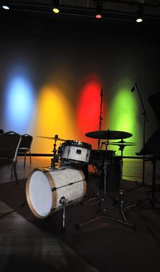Free Drum At Stage Stock Photography - 18037042