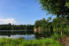 Beautiful Quarry On A Tropical Island Royalty Free Stock Photography