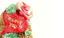 Free Valentine Day Hart And Rose Stock Photos - 18037353