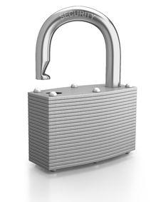 Free Chrome Padlock Opened On White Background Royalty Free Stock Photos - 18037588