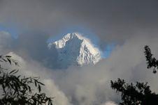Free View Of Tamserku From Namche Bazaar Stock Image - 18038001
