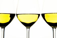 Free Three Glasses Of White Wine Stock Images - 18038234