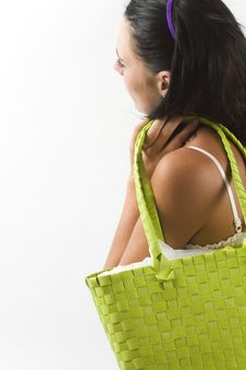 Free Young Woman With Shopping Bag Royalty Free Stock Photos - 18038538