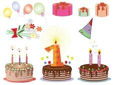 Free Birthday Icons Stock Photos - 18039233