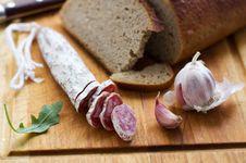 Free Salami Sausage. Stock Photos - 18039353