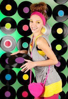 Studio Shot Of Cheerful Teenage Girl
