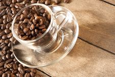 Free Coffee Cup And Grain Royalty Free Stock Image - 18039476