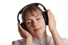 Free Girl Listening Music Stock Photography - 18039512