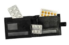 Free Purse With Drug Stock Image - 18039711