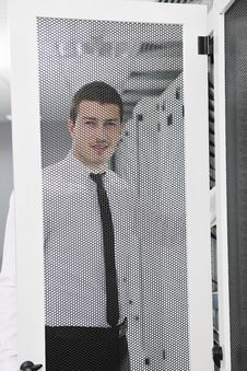 Free Young It Engeneer In Datacenter Server Room Stock Image - 18039771