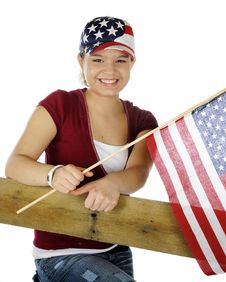 Free Teen Patriot Royalty Free Stock Photography - 18039877