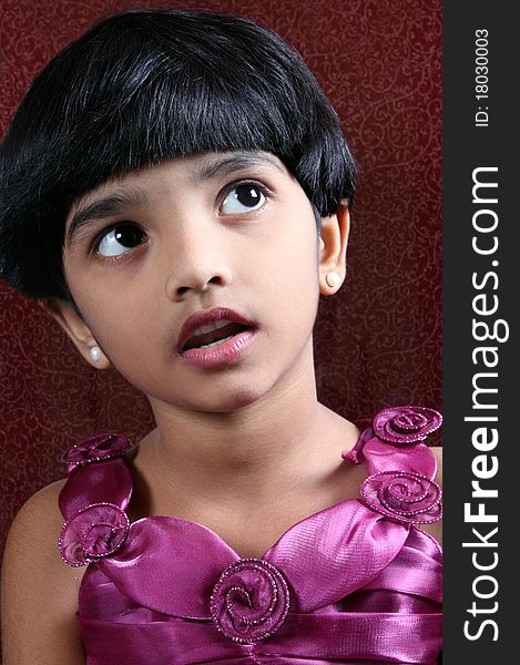 Portrait Of Cute Indian Girl Free Stock Images Photos 18030003 Stockfreeimages Com