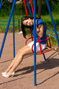 Free Girl On Swing Stock Photos - 18041763