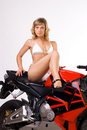 Free Sexy Girl On Motorbike Stock Images - 18041964