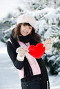 Free Teen Girl Heart In His Hands Royalty Free Stock Photos - 18042338
