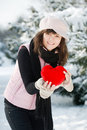 Free Teen Girl Heart In His Hands Royalty Free Stock Image - 18042376