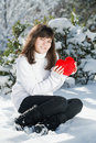 Free Teen Girl Heart In His Hands Royalty Free Stock Images - 18042579